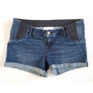 Midi maternity shorts